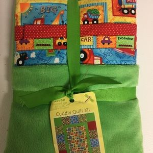 Boys Cuddly Quilt Kit - Brand New
